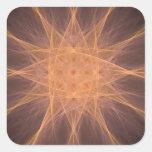 Regalos del arte del fractal de la estrella del pegatina cuadradas