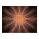 Regalos del arte del fractal de la estrella del postal