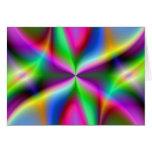 Regalos del arte del fractal del arco iris de la tarjeta de felicitación