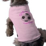 Regalos del arte del fútbol del amor de los chicas camisetas de perrito