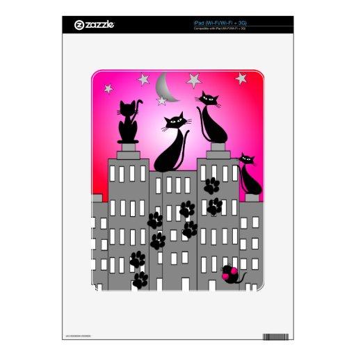 Regalos del arte del gato negro calcomanías para el iPad