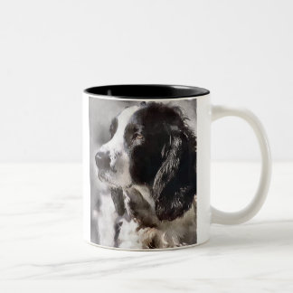 Regalos del arte del perro de aguas de saltador in tazas