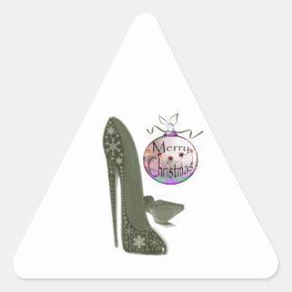Regalos del arte del zapato y de la chuchería del pegatina triangular