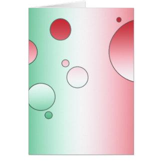 Regalos del arte para los italianos: Colores de la Tarjeta Pequeña