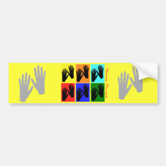 Regalos del arte pop del terapeuta del masaje pegatina de parachoque