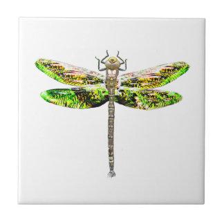 Regalos del arte y del diseño de la libélula azulejo cuadrado pequeño