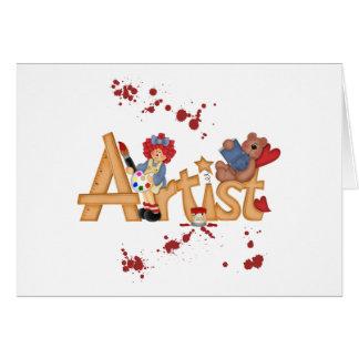 Regalos del artista tarjeta de felicitación