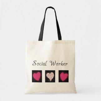 Regalos del asistente social bolsa tela barata