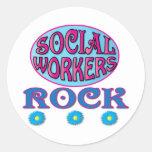 Regalos del asistente social etiquetas redondas