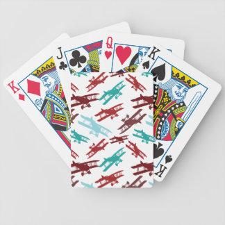 Regalos del aviador del aeroplano del modelo del b baraja cartas de poker