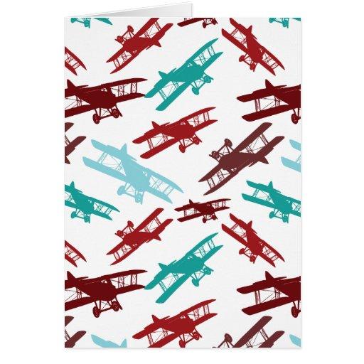 Regalos del aviador del aeroplano del modelo del b tarjeton