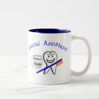 Regalos del ayudante de dentista taza de café