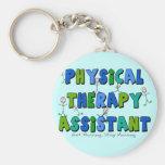 Regalos del ayudante de la terapia física llaveros