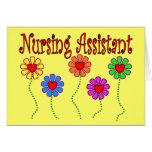 Regalos del ayudante del oficio de enfermera--Dise Felicitación