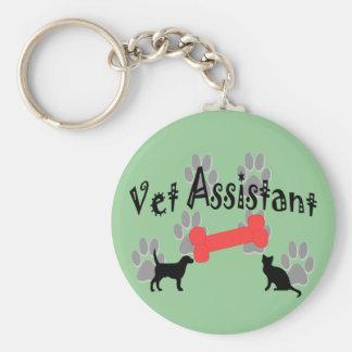 Regalos del ayudante del veterinario llavero redondo tipo pin