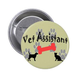 Regalos del ayudante del veterinario pin redondo de 2 pulgadas