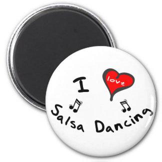 Regalos del baile de la salsa - baile de la salsa  imán redondo 5 cm
