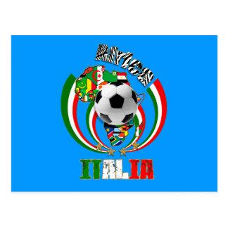 Regalos del balón de fútbol de la bandera de Itali Tarjeta Postal