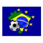 Regalos del balón de fútbol de las estrellas del postal