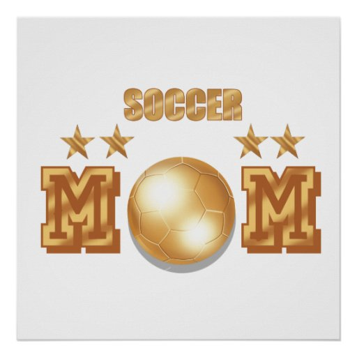 Regalos del balón de fútbol del bronce del oro de  póster