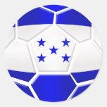 Regalos del balón de fútbol del Los Catrachos Hond Etiquetas Redondas