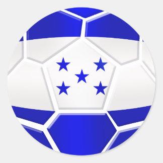 Regalos del balón de fútbol del Los Catrachos Pegatina Redonda