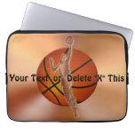 Regalos del baloncesto de la manga del ordenador p mangas portátiles