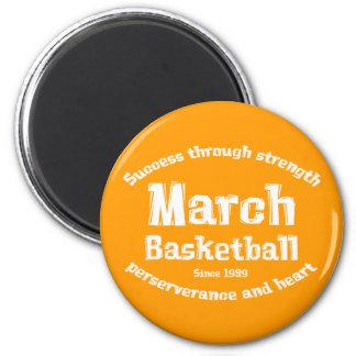 Regalos del baloncesto de marzo imán