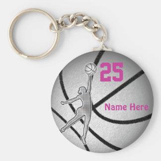 Regalos del baloncesto para el equipo de los chica llaveros