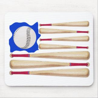 Regalos del béisbol de la bandera americana alfombrillas de raton