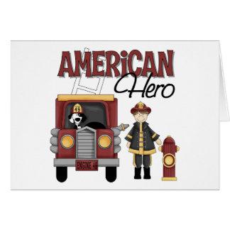 Regalos del bombero felicitación