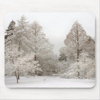 Regalos del bosque de la nieve de Mousepad del paí Tapete De Ratón