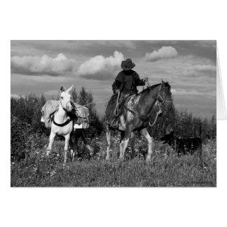 Regalos del caballo y de la mula del vaquero de tarjeta de felicitación