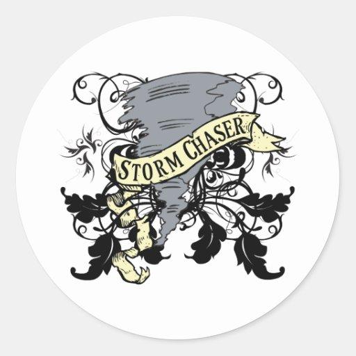 Regalos del cazador de la tormenta etiqueta