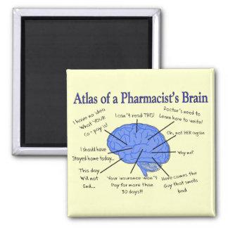 Regalos del cerebro del farmacéutico divertido imanes para frigoríficos