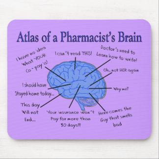 Regalos del cerebro del farmacéutico divertido tapetes de ratones