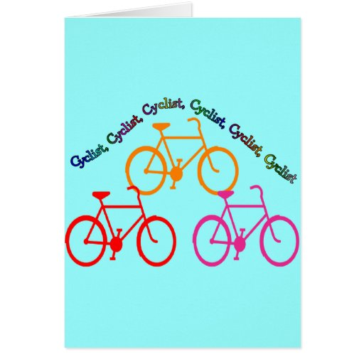 ¡Regalos del ciclista, manía Biking! Tarjeta De Felicitación