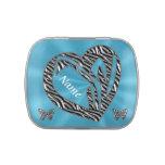 Regalos del corazón y de las mariposas personaliza jarrones de caramelos