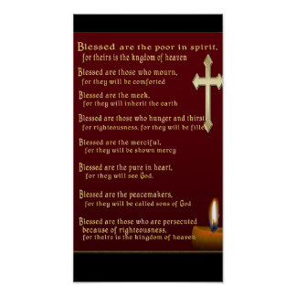 Regalos del cristiano de las beatitudes posters