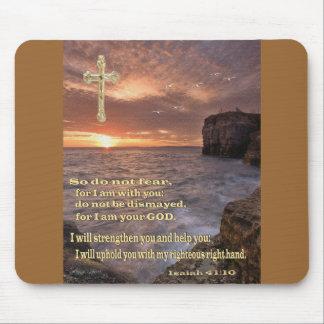 Regalos del cristiano del 41:10 de Isaías Tapete De Raton