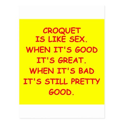 regalos del croquet postales
