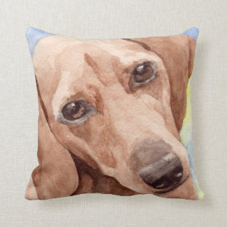 Regalos del dachshund de la acuarela almohadas