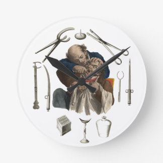 regalos del dentista del vintage reloj redondo mediano