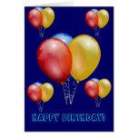 Regalos del destino del feliz cumpleaños tarjeta pequeña
