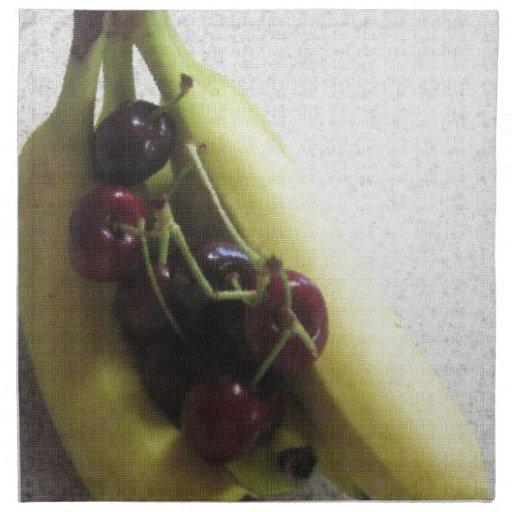 Regalos del destino del postre de los plátanos de  servilletas imprimidas