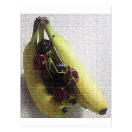 Regalos del destino del postre de los plátanos de  tarjeta postal