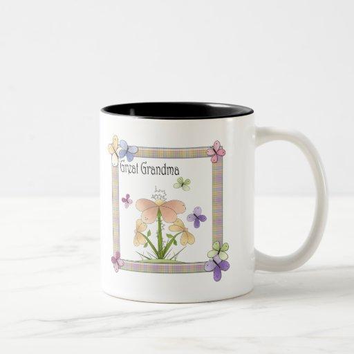 Regalos del día de madres de la abuela de la flor  tazas