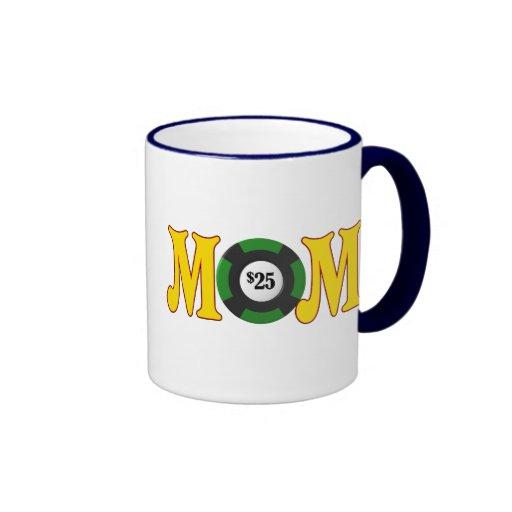 Regalos del día de madres de la mamá del jugador tazas de café