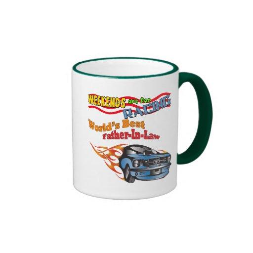 Regalos del día de padre el competir con auto del  taza de café