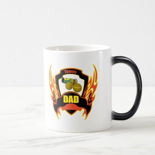 Regalos del día de padres del papá del tenis tazas de café